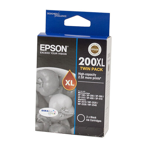Epson 200 HY Black Twin Pack