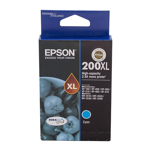 Epson 200 HY Cyan Ink Cartridge - 450 pages