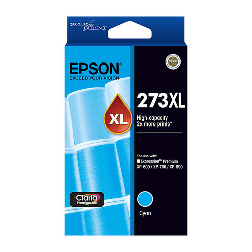 Epson 273 HY Cyan Ink Cartridge - 650 pages
