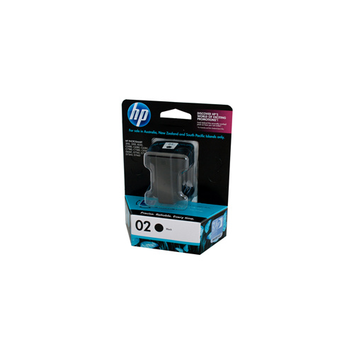 HP #02 Black Ink Cartridge - 10ml - 480 pages