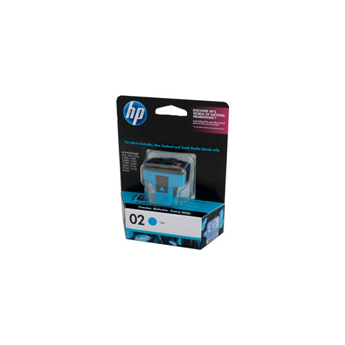 HP #02 Cyan Ink Cartridge - 4ml - 350 pages