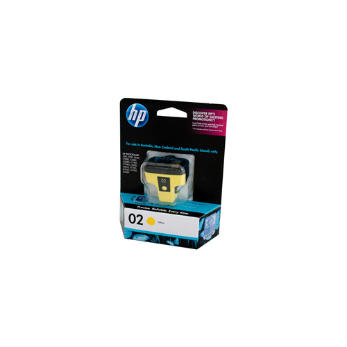 HP #02 Yellow Ink Cartridge - 6ml - 350 pages