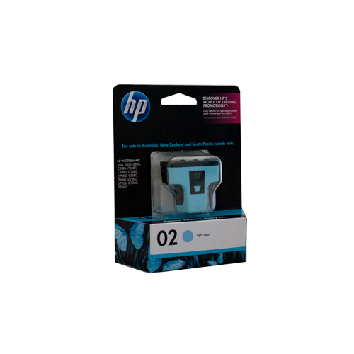 HP #02 Light Cyan Ink Cartridge - 5.5ml - 350 pages