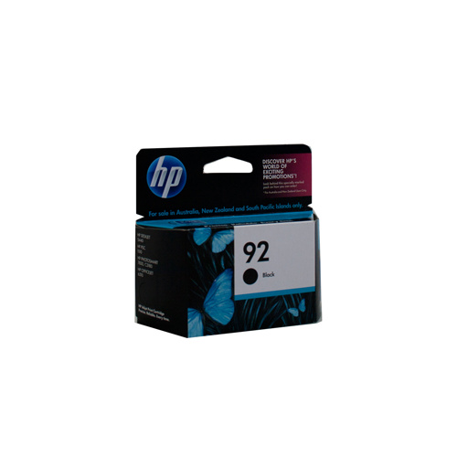 HP #92 Black Ink Cartridge - 210 pages