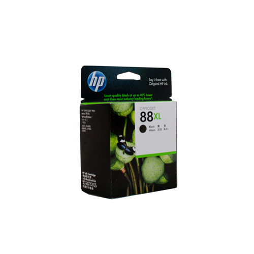 HP #88XL Black Ink Cartridge  - 2450 pages