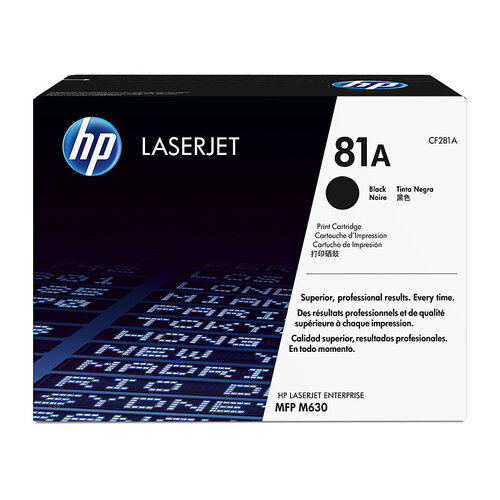 HP # 81A Black Toner - 10500 pages