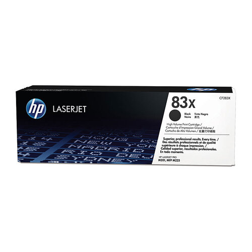 HP #83X Black Toner Cartridge - 2200 pages