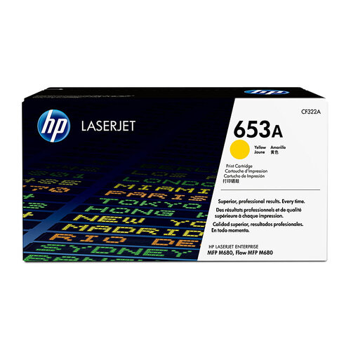 HP #653A Yellow Toner Cartridge - 16500 pages