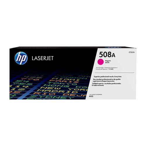 HP #508A Magenta Toner Cartridge - 5000 pages