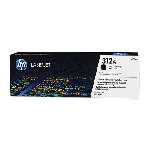 HP #312A Black Toner Cartridge - 2400 pages