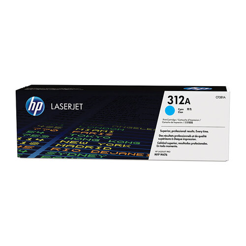 HP #312A Cyan Toner Cartridge - 2700 pages