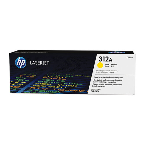 HP #312A Yellow Toner Cartridge - 2700 pages