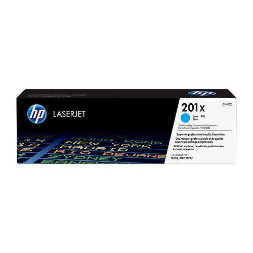 HP #201X Cyan Toner Cartridge - 2300 pages