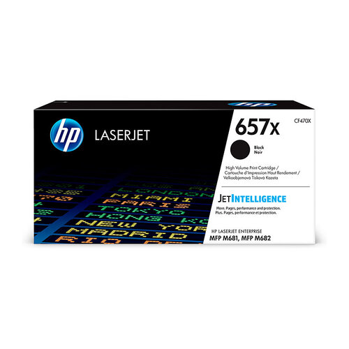 HP #657X  Black Toner Cartridge - 28000 pages