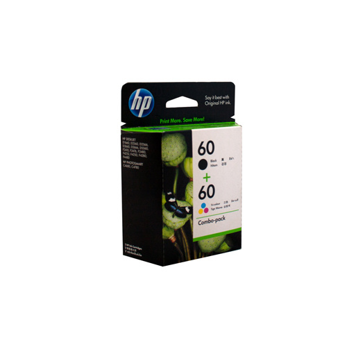 HP #60 Black and Colour ink Cartridge - Black 200 pages Colour 165 pages