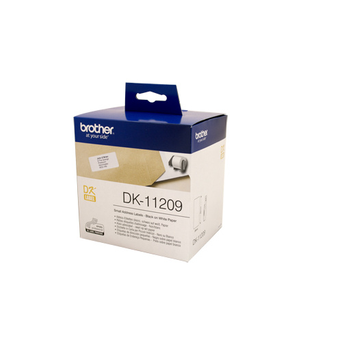 Brother DK11209 White Label - 29mm x 62mm - 800 per roll