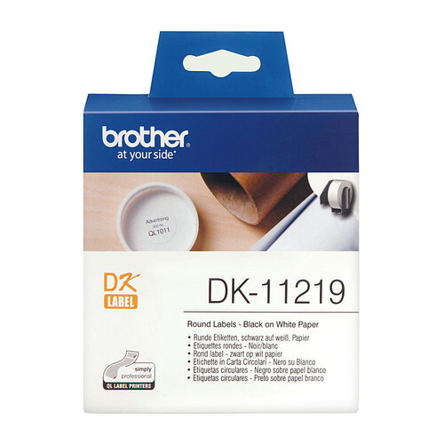 Brother DK11219 White Label - 1200 per roll