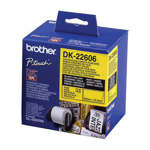 Brother DK22606 Yellow Roll - 15.24 Meters