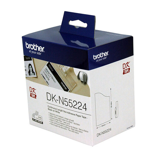 Brother DKN55224 White Roll -