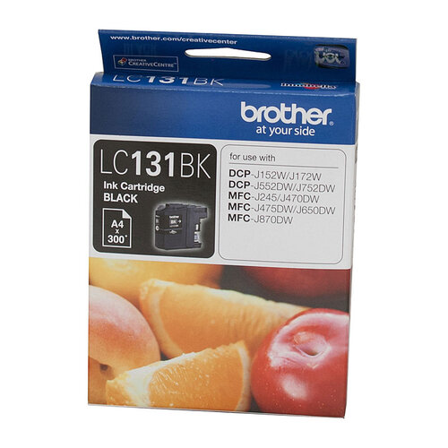 Brother LC-131 Black Ink Cartridge - up to 300 pages
