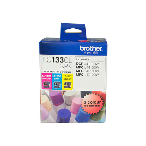 Brother LC-133 CMY Colour Pack - up to 600 pages per colour