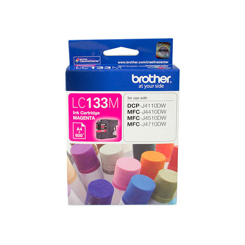Brother LC-133 Magenta Ink Cartridge - up to 600 pages