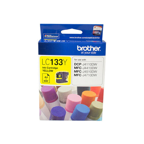 Brother LC-133 Yellow Ink Cartridge - up to 600 pages
