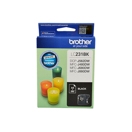 Brother LC-231 Black Ink Cartridge - Up to 260 pages