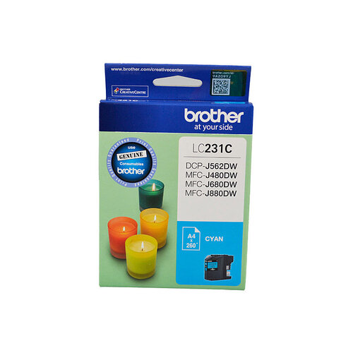 Brother LC-231 Cyan Ink Cartridge - Up to 260 pages