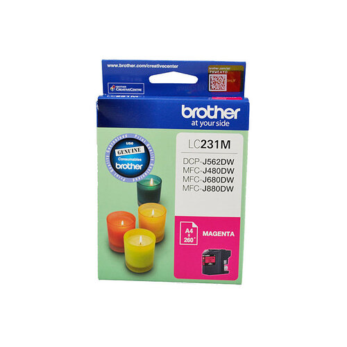 Brother LC-231 Magenta Ink Cartridge - Up to 260 pages