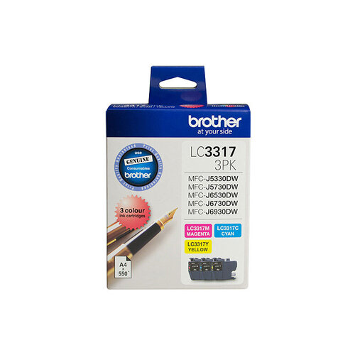 Brother LC3317 CMY Colour Pack - 550 pages each
