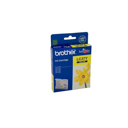 Brother LC-37Y Yellow Ink Cartridge - 300 pages