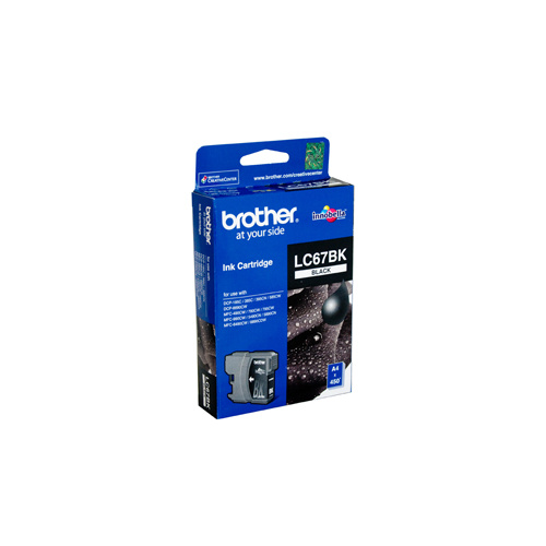 Brother LC-67BK Black Ink Cartridge - 450 pages