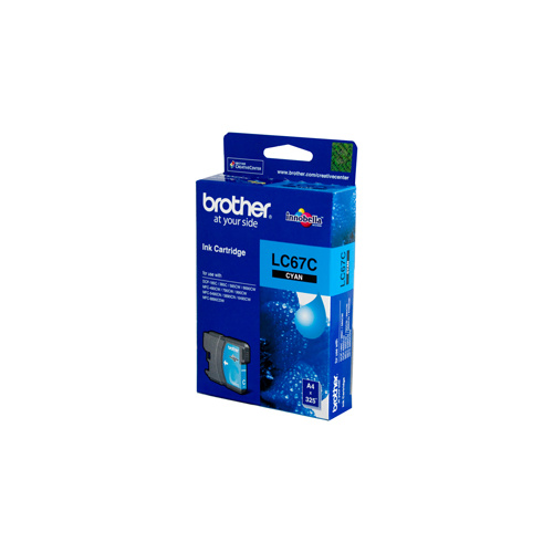 Brother LC-67C Cyan Ink Cartridge - 325 pages