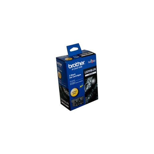 Brother LC-67BK Black Ink Cartridge High Capacity - Twin pack of LC-67HY-BK
