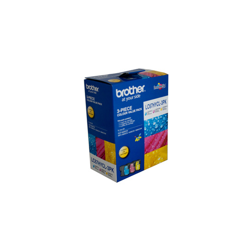 Brother LC-67CL3PK Cyan Magenta & Yellow Colour Pack High Capacity - 750 pages each