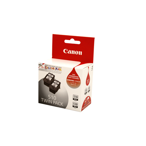 Canon PG-510 Black Ink Cartridge Twin Pack - 220 pages each