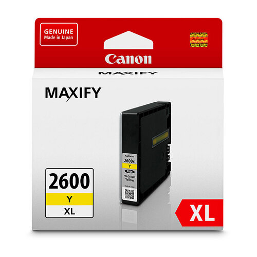 Canon PGI2600XL Yellow Ink Tank - 1500 pages