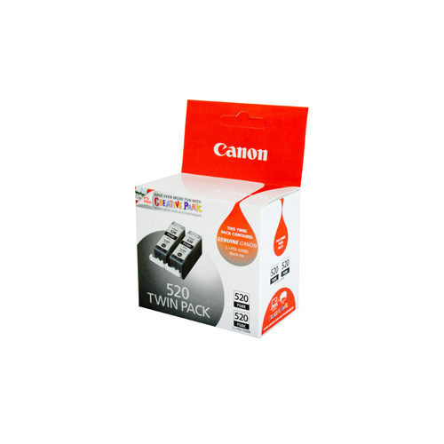 Canon PGI-520BK Black Ink Tank Twin pack - 324 pages each