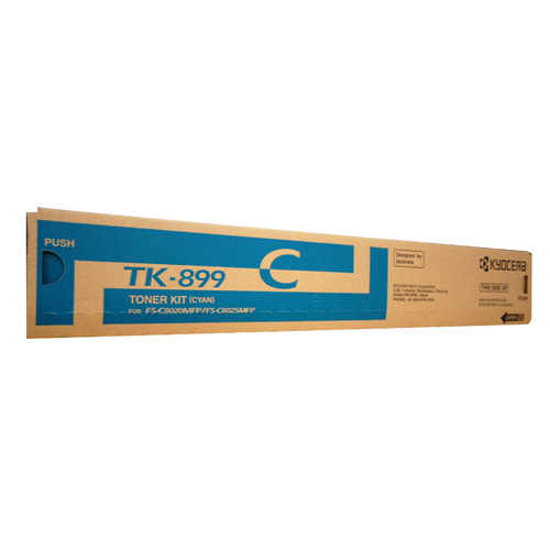 Kyocera TK899 Cyan Toner Cartridge - 6000 pages