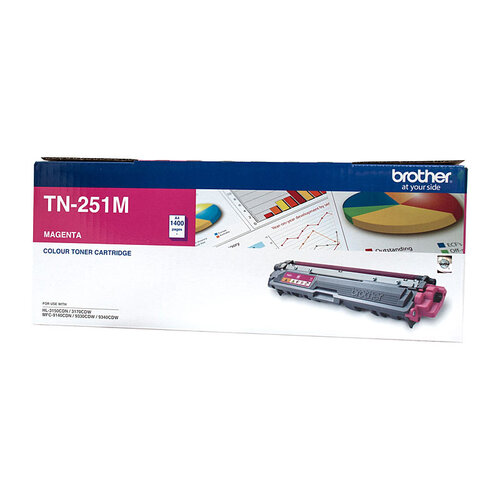 Brother TN-251 Magenta Toner Cartridge - 1400 pages