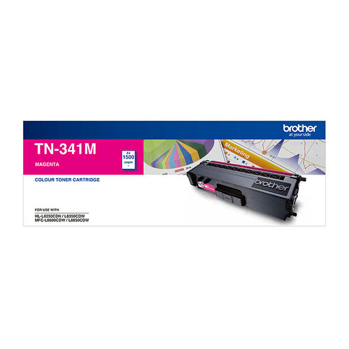 Brother TN-341 Magenta Toner Cartridge - 1500 pages