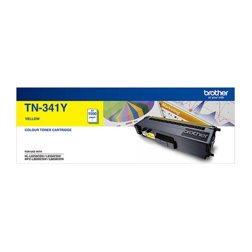 Brother TN-341 Yellow Toner Cartridge - 1500 pages