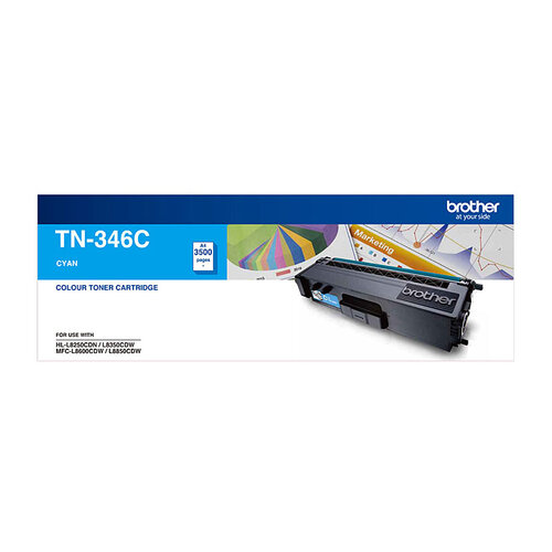 Brother TN-346 Cyan Toner Cartridge - 3500 pages