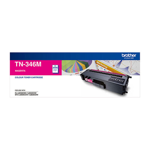 Brother TN-346 Magenta Toner Cartridge - 3500 pages