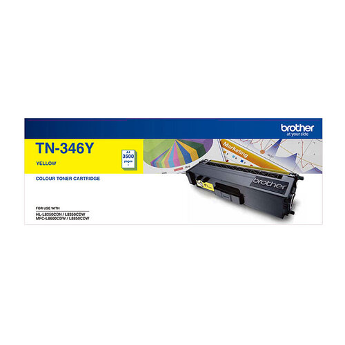 Brother TN-346 Yellow Toner Cartridge - 3500 pages