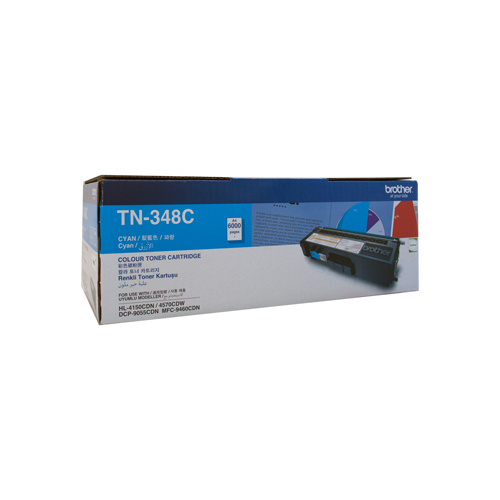 Brother TN-348 Cyan Toner Cartridge - 6000 pgs