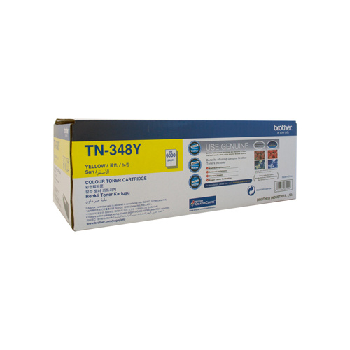 Brother TN-348 Yellow Toner Cartridge - 6000 pgs