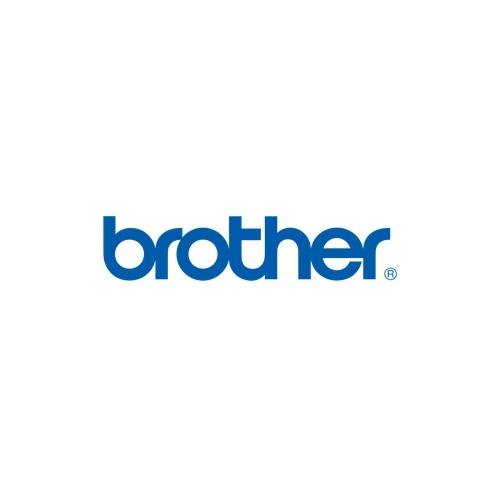 Brother 12mm Black Text On White Tape Twin Pack - 8 metres each