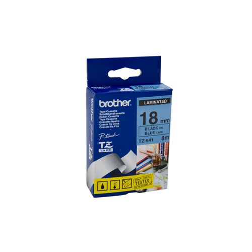 Brother 18mm Black on Blue Labelling Tape - 8 meters